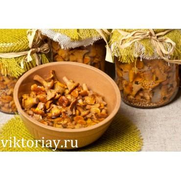 Маринованные грибы лисички: 1000 грамм